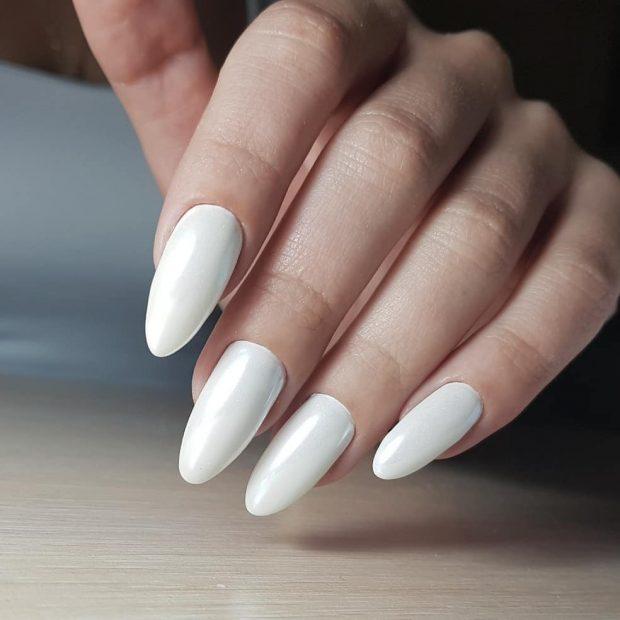 однотонный длинные ногти
