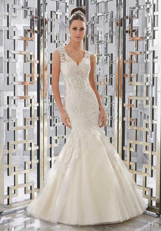платье облегающее белое русалка