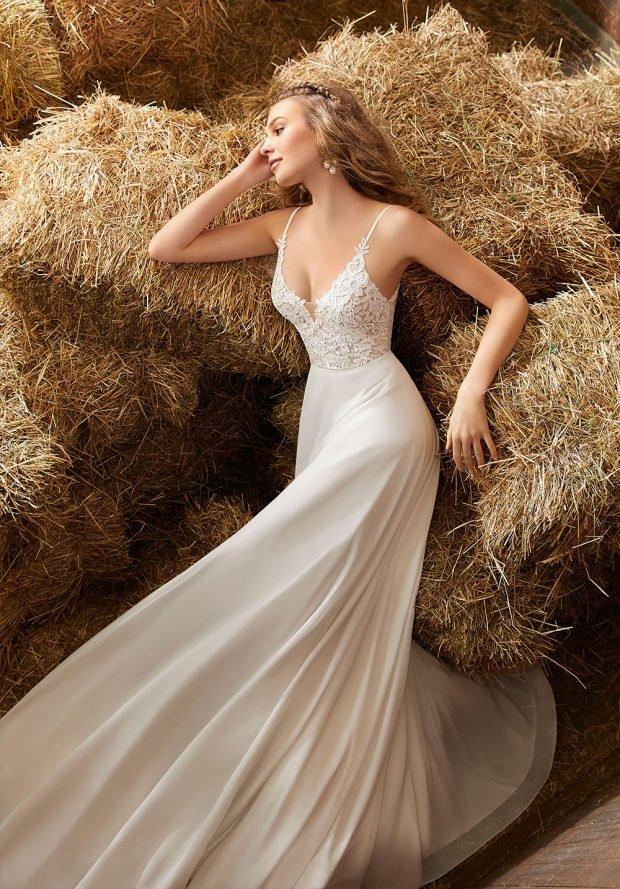 кружевное платье белое на бретелях очень длинное